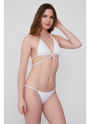 Plumeria Swimwear Üçgen Bikini Beyaz